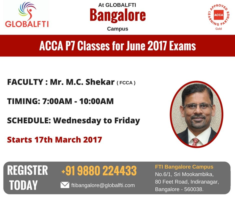 ACCA P7 in Bangalore June 2017