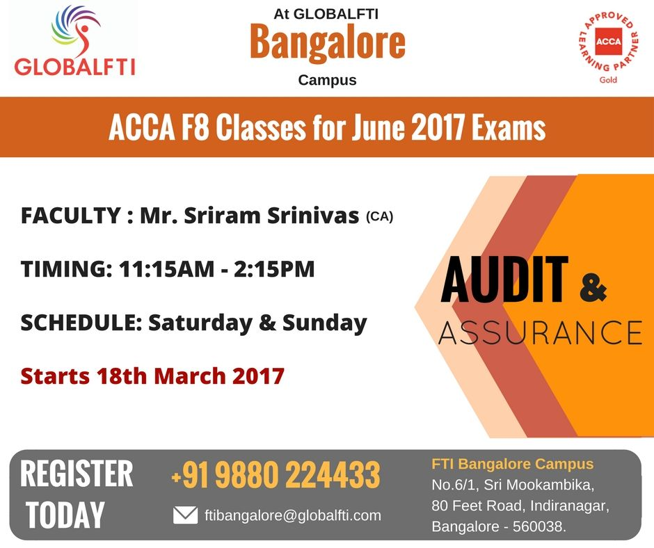 ACCA F8 Classes for June 2017