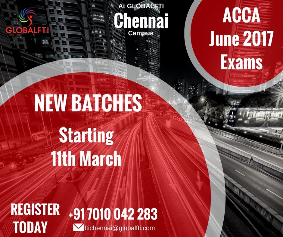 ACCA in Chennai - June 2017 Exams