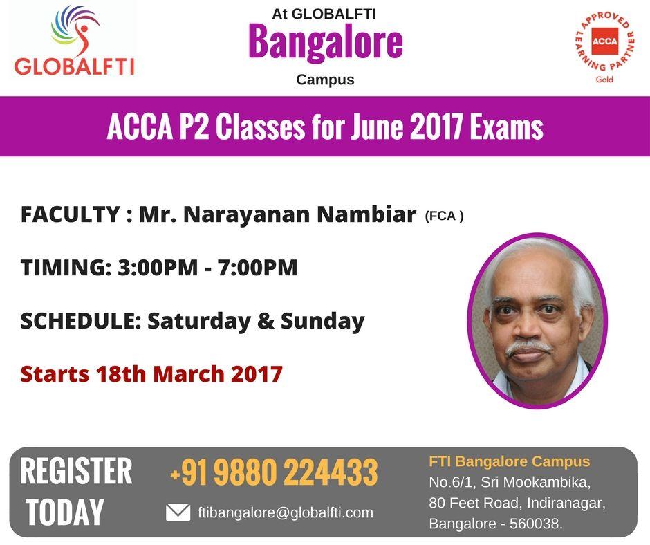 ACCA P2 Classes June 2017