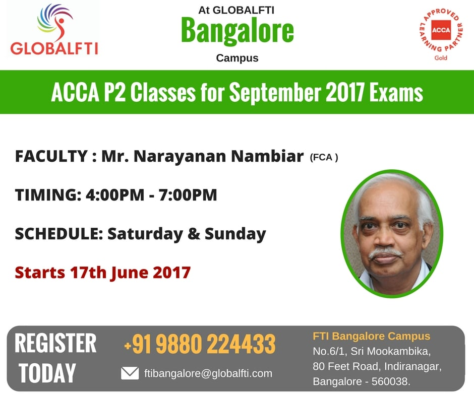ACCA P2 Classes for September 2017 Exams
