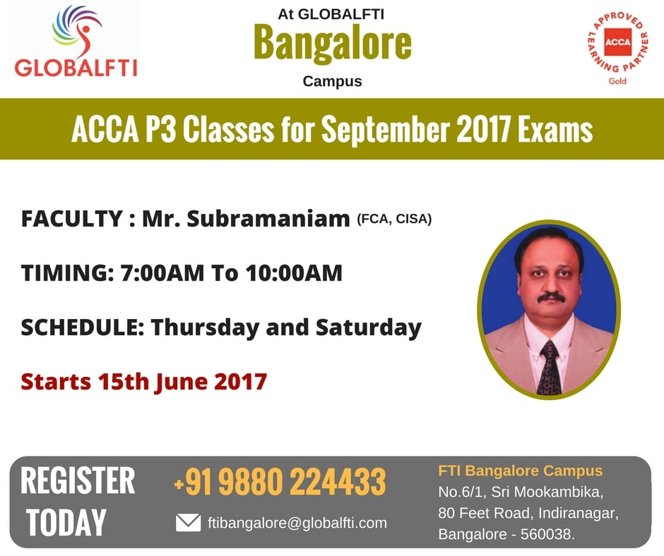 ACCA P3 Classes for September 2017 Exams