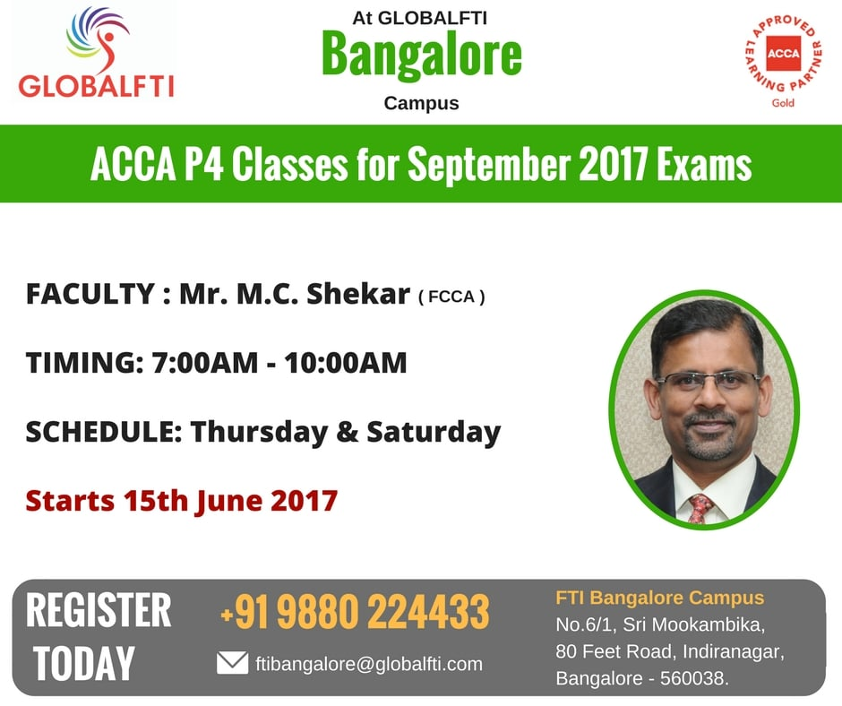 ACCA P4 Classes for September 2017 Exams