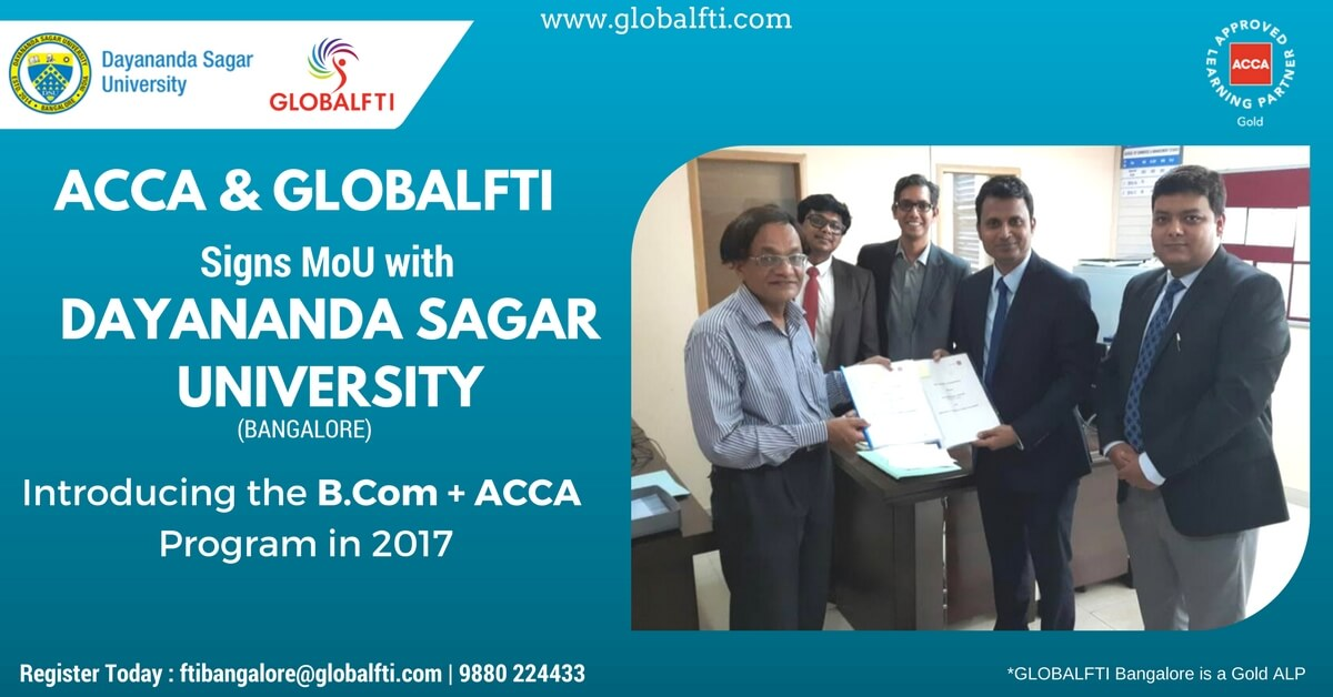 ACCA And GLOBALFTI signs MoU with Dayanand Sagar University