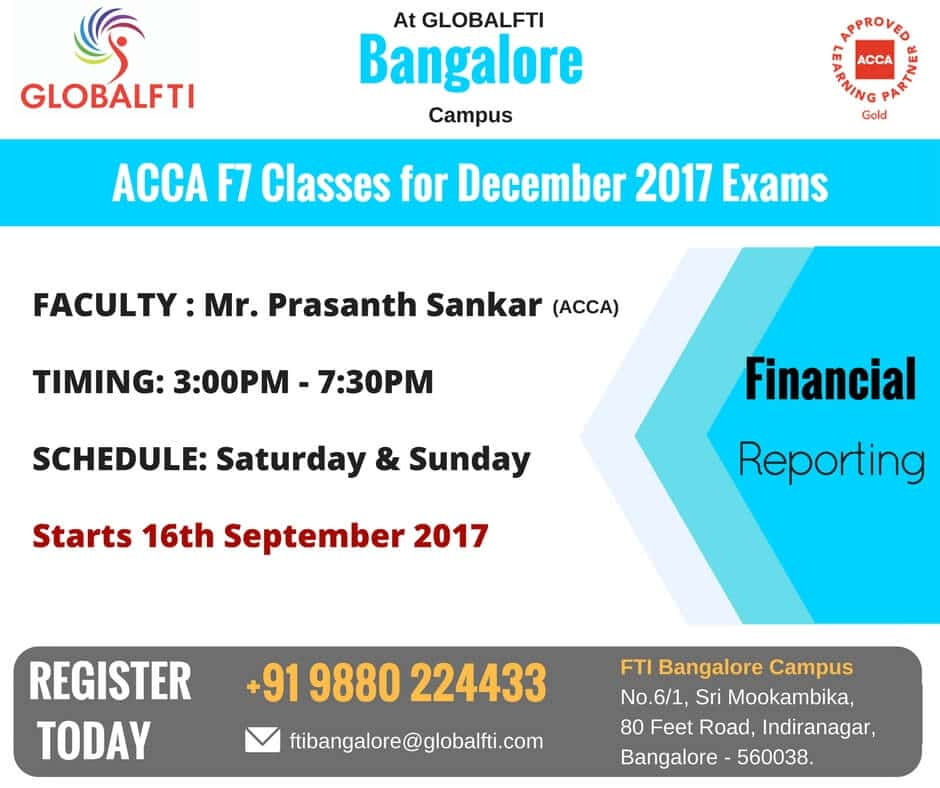 ACCA F7 Classes for December 2017 Exams