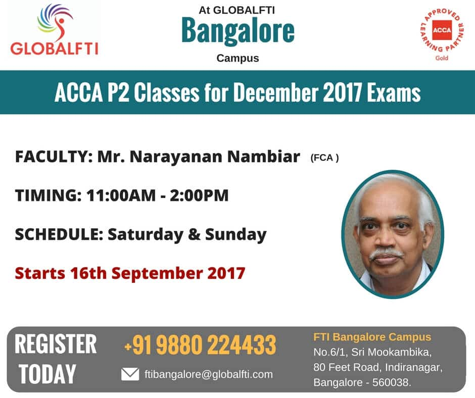 ACCA P2 Classes for December 2017 Exams