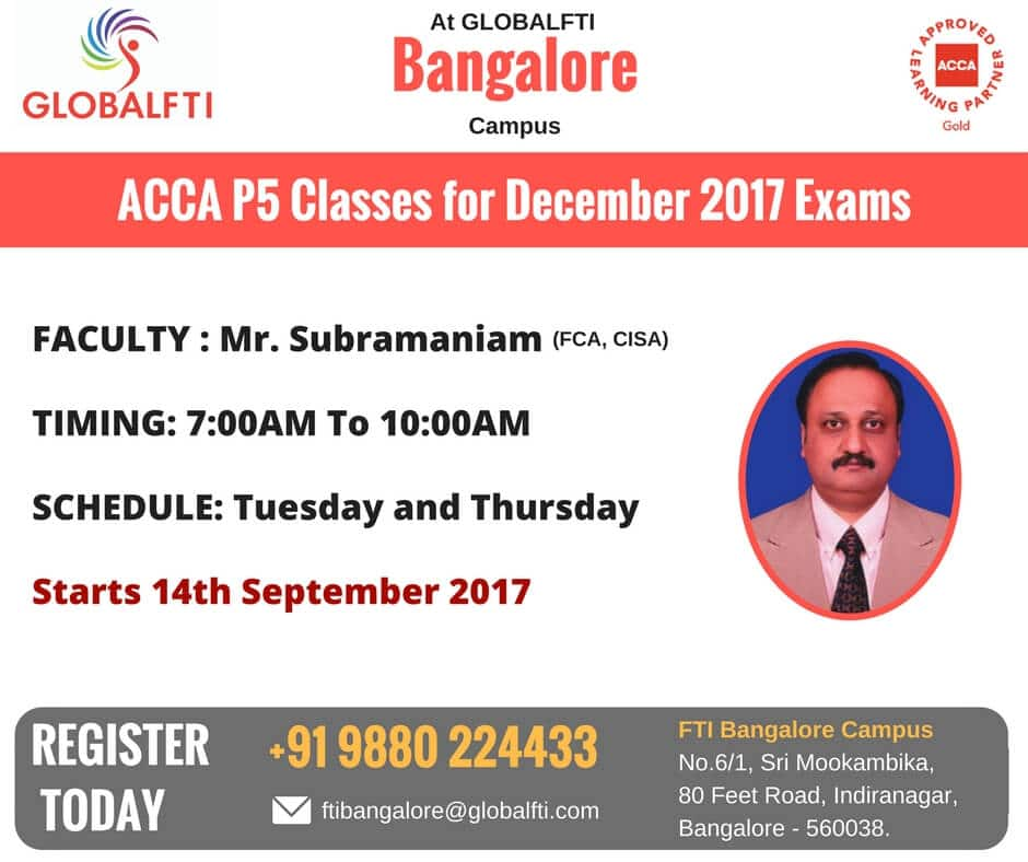 ACCA P5 Classes for December 2017 Exams