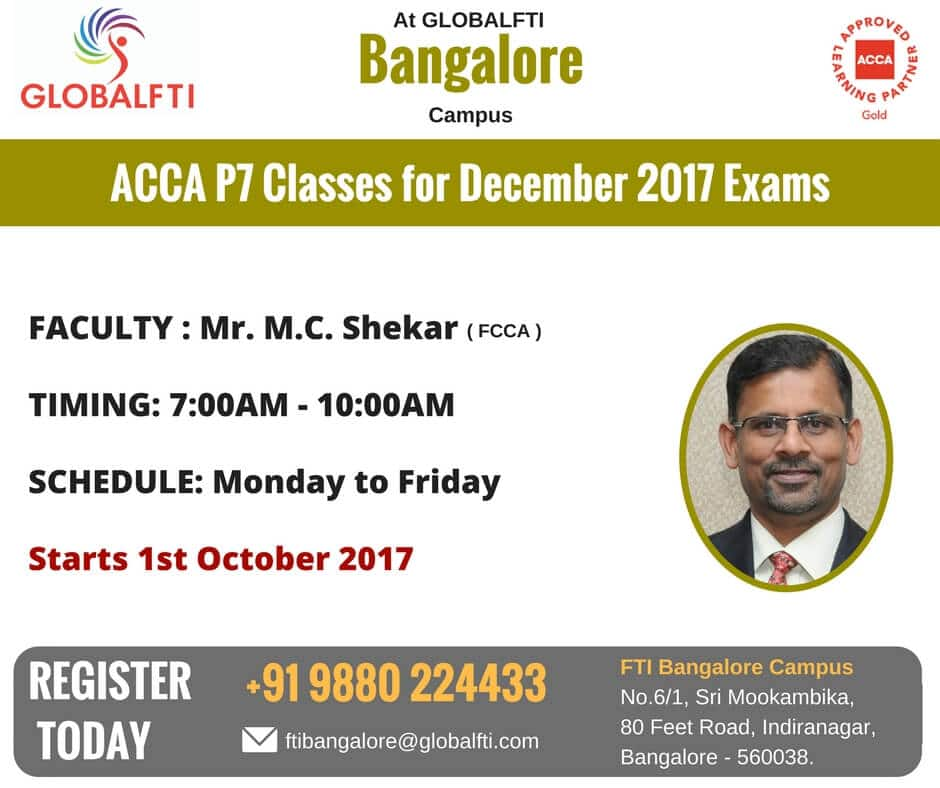 ACCA P7 Classes for December 2017 Exams